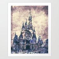 Disneyland Mix Art Print