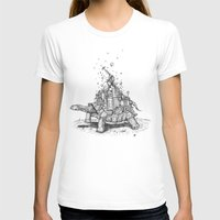 Tortoise Town Womens Fitted Tee White SMALL
