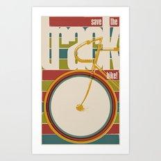 Save The Track Bikes! 02 Art Print