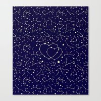 Star Lovers Canvas Print