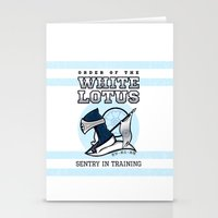 White Lotus In Training Stationery Cards