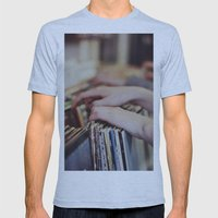 Flipping Through Mens Fitted Tee Athletic Blue SMALL