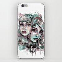 Faces and Color iPhone & iPod Skin