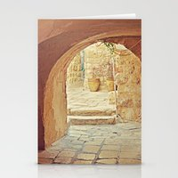 Jerusalem Courtyard Stationery Cards