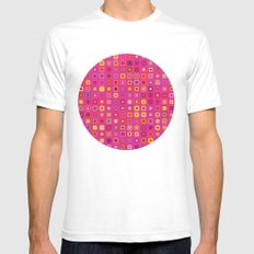 Retro in Pink Mens Fitted Tee White SMALL
