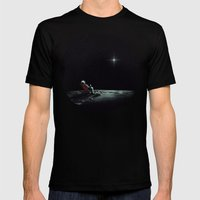 Space Chill Mens Fitted Tee Black SMALL