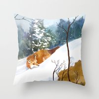 Which Way Did He Go? Throw Pillow