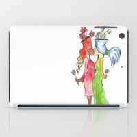lesbian flower women kiss iPad Case