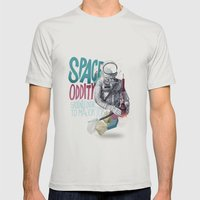 SPACE ODDITY Mens Fitted Tee Silver SMALL