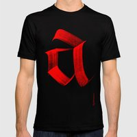 Fraktur A Mens Fitted Tee Black SMALL