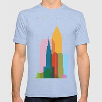 Shapes of Cleveland accurate to scale Mens Fitted Tee Tri-Blue SMALL
