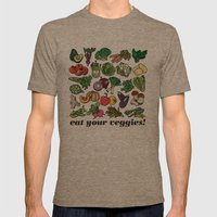 Eat Your Veggies! Mens Fitted Tee Tri-Coffee SMALL