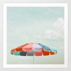 beach umbrella Art Print
