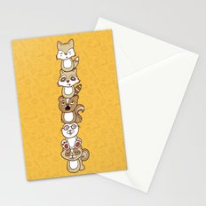 Woodland Creature Totem Pole Stationery Cards