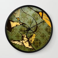 analog zine - song bird Wall Clock