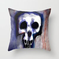 Grimly Throw Pillow
