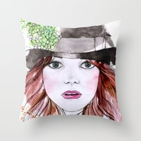Emma Stone Throw Pillow