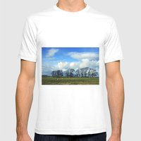 Hadrian's Wall Mens Fitted Tee White SMALL