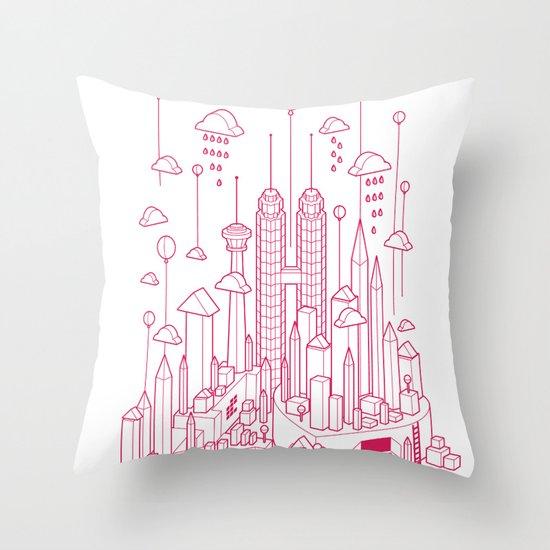 Kuala Lumpur (Red ver.) Throw Pillow