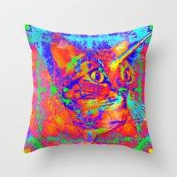 Caticorn-Lady Jasmine Throw Pillow