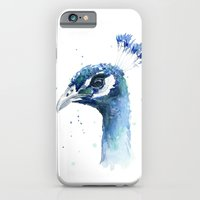 Peacock Watercolor Painting iPhone 6 Slim Case