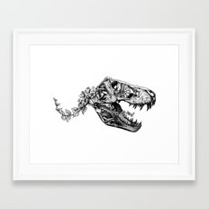 Jurassic Bloom - The Rex… Framed Art Print