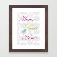 Home Tweet Home Framed Art Print
