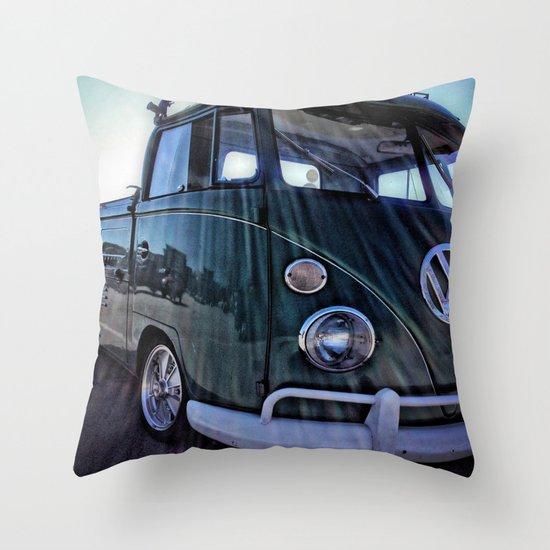 vintage vw Throw Pillow