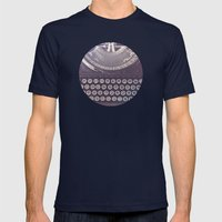 Typewriter Mens Fitted Tee Navy SMALL