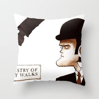 The Ministry of Silly Walks Throw Pillow