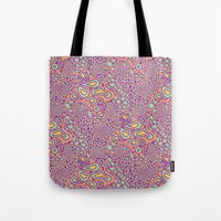 Cell Floral Tote Bag