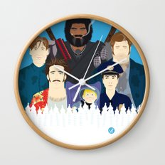 Finding Junior (Faces & Movies) Wall Clock