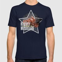 HARVEY MUSHMAN Mens Fitted Tee Navy SMALL