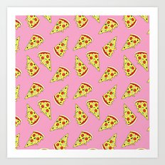 Pizza Pattern By Everett Co Art Print