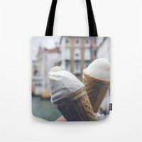 Love and ice cream Tote Bag