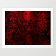 Red And Black Abstract D… Art Print