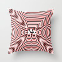 Huichol Bike Throw Pillow