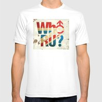 Who R U? Mens Fitted Tee White SMALL