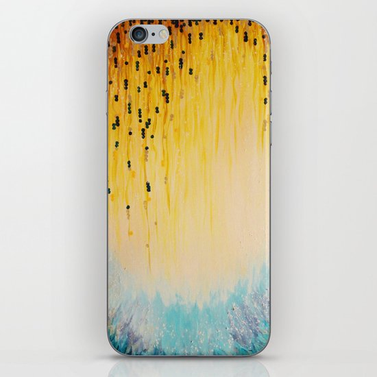 MYSTIC GARDEN Lovely Fairy Land Abstract Painting Acrylic Fine Art Winter Colorful Fantasy Magical iPhone & iPod Skin