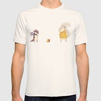 The Last Acorn of Autumn Mens Fitted Tee Natural SMALL