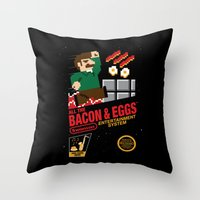 All The Bacon And Eggs Throw Pillow