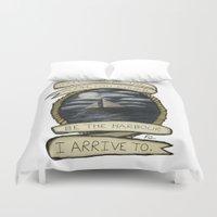 Nautical Drawing Duvet Cover