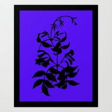 Bignonia in Lime Green / Chartreuse - Original Floral Botanical Papercut Design Art Print