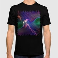 Jellyfish In Roaring Wav… Mens Fitted Tee Black SMALL
