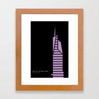 New York Skyline: Bank O… Framed Art Print