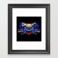 Red Beast Crowned In Blu… Framed Art Print