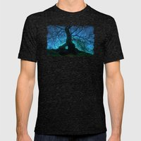 Tree under a spangled sky (light) Mens Fitted Tee Tri-Black SMALL