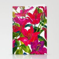 Pink Lilies Stationery Cards