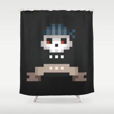 Pixel Skull Shower Curtain