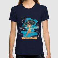 Pocahontas Womens Fitted Tee Navy SMALL